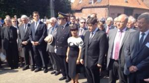 Les officiels lors de la cérémonie du 800ème anniversaire de Bouvines